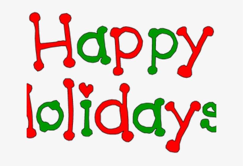 Happy holidays png red. Holydays clipart december wish