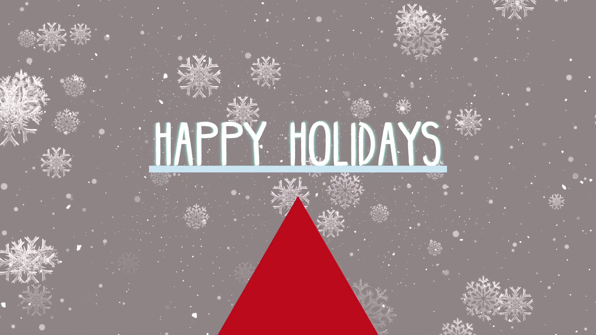 Happy holidays png snow. Background modern winter title
