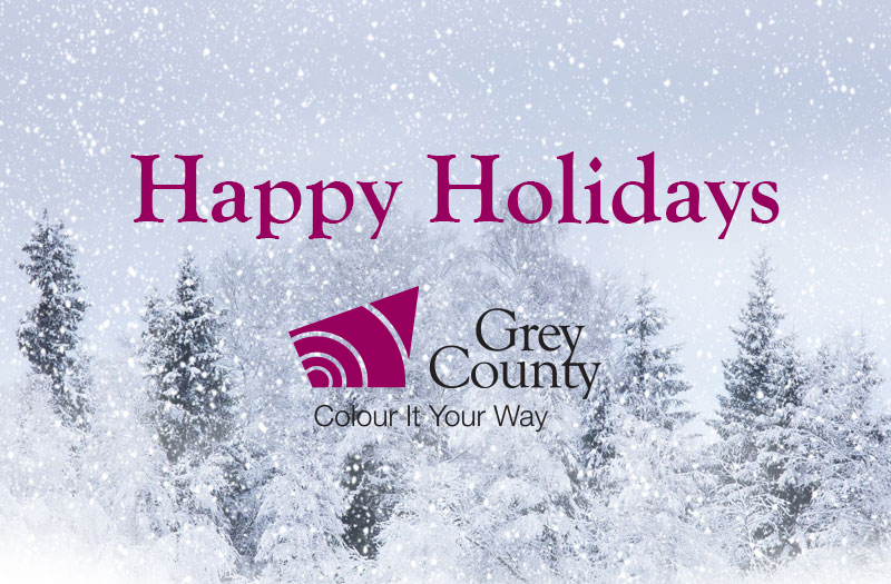 Happy holidays png snow. Holiday office hours county
