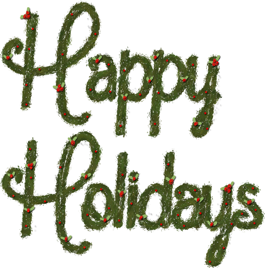 Happy holidays png transparent. By hggraphicdesigns on deviantart