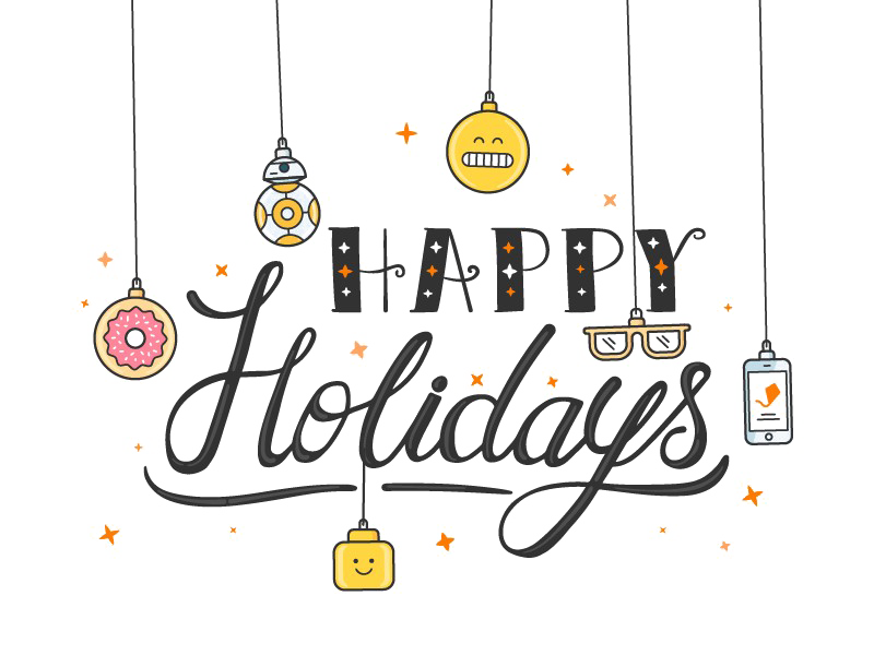Happy holidays png transparent. Image arts