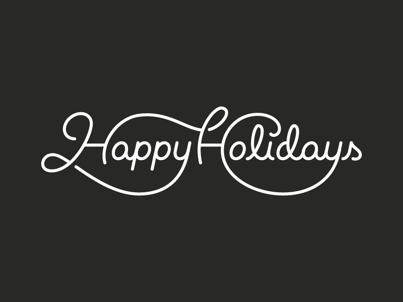Happy holidays png white. By michael spitz dribbble