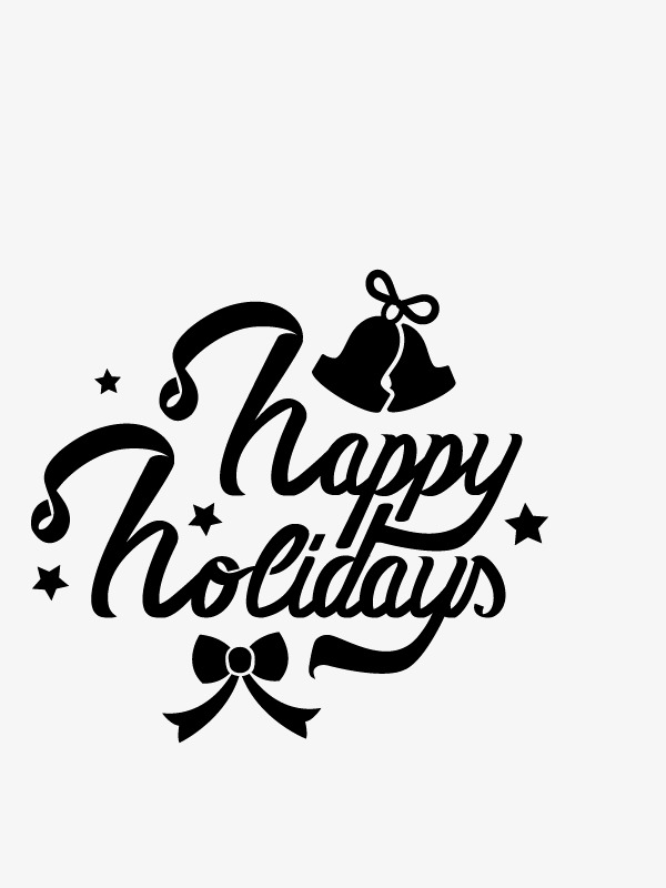 Happy holidays png white. Text decoration vector decorative