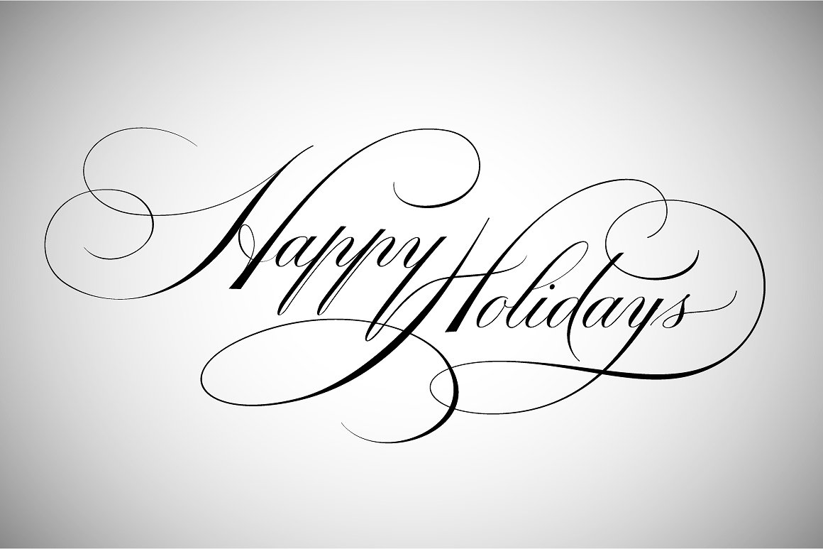 Happy holidays png cursive. Lettering illustrations creative market