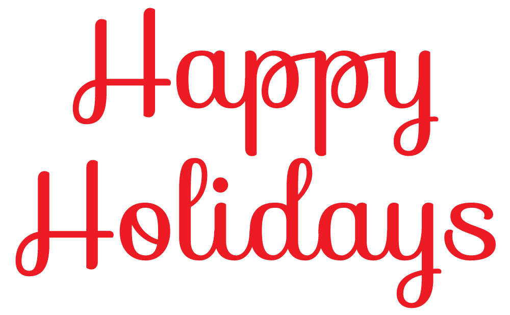 Happy holidays white png. Download for free in