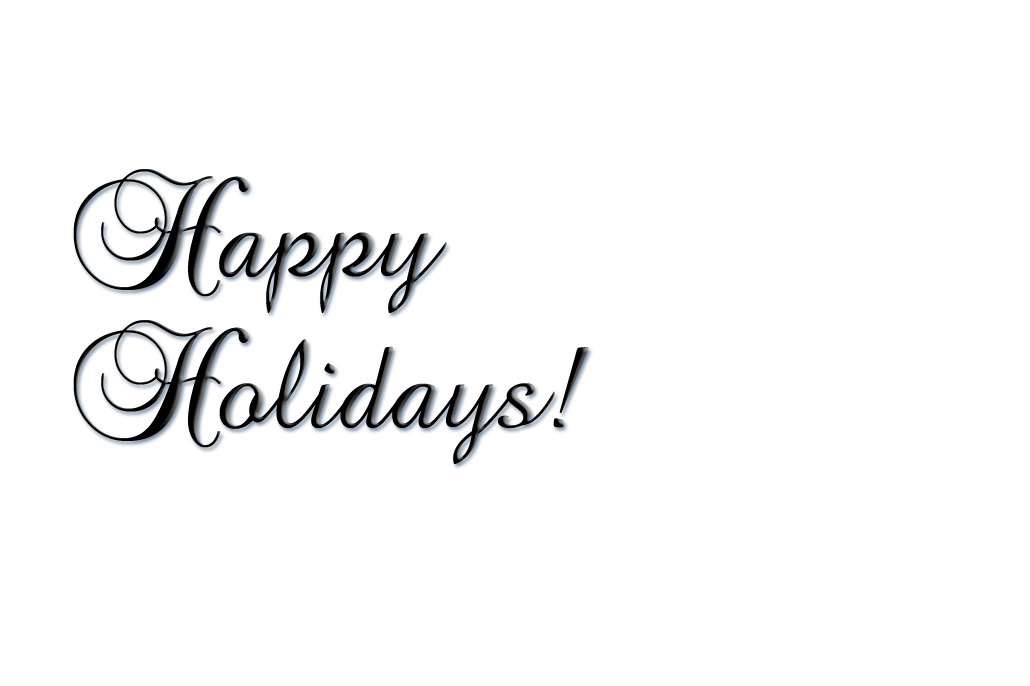 Happy holidays white png. Holiday greeting sierra cedar