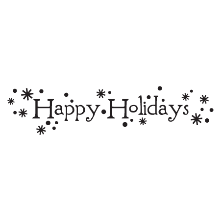 Happy holidays white png. Whimsical wall quotes decal