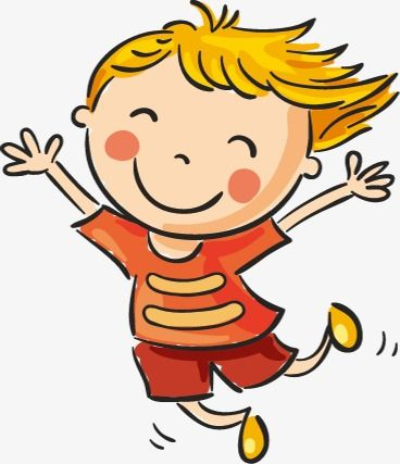 Happy kid. Children clipart jumping png