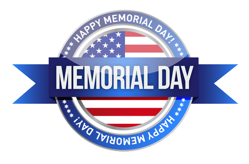 Happy memorial day png. Photo vector clipart psd