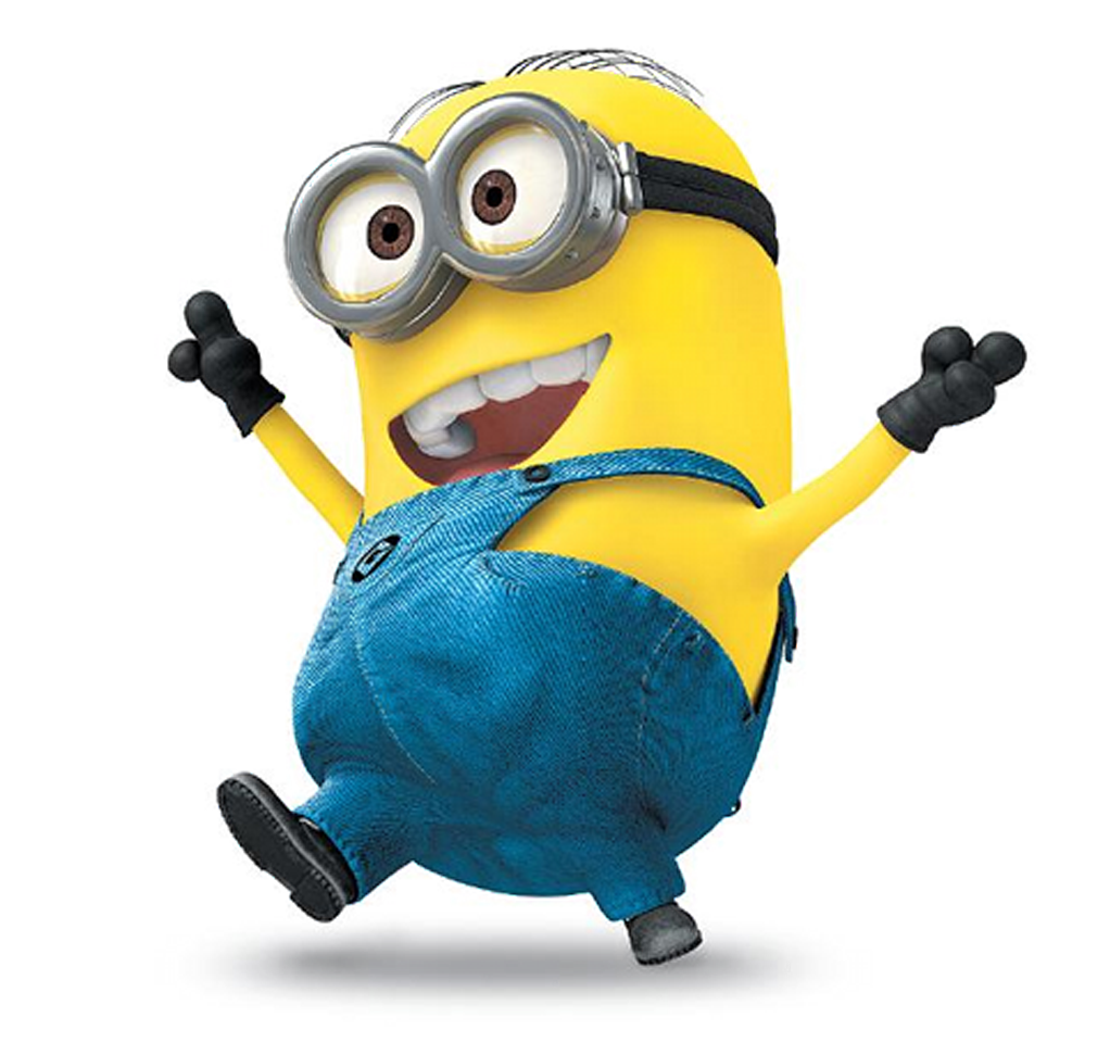 Happy minion png. Imagens minions pictures only