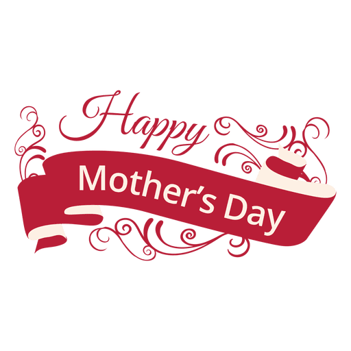 Happy mother's day png. Mothers decorative label transparent