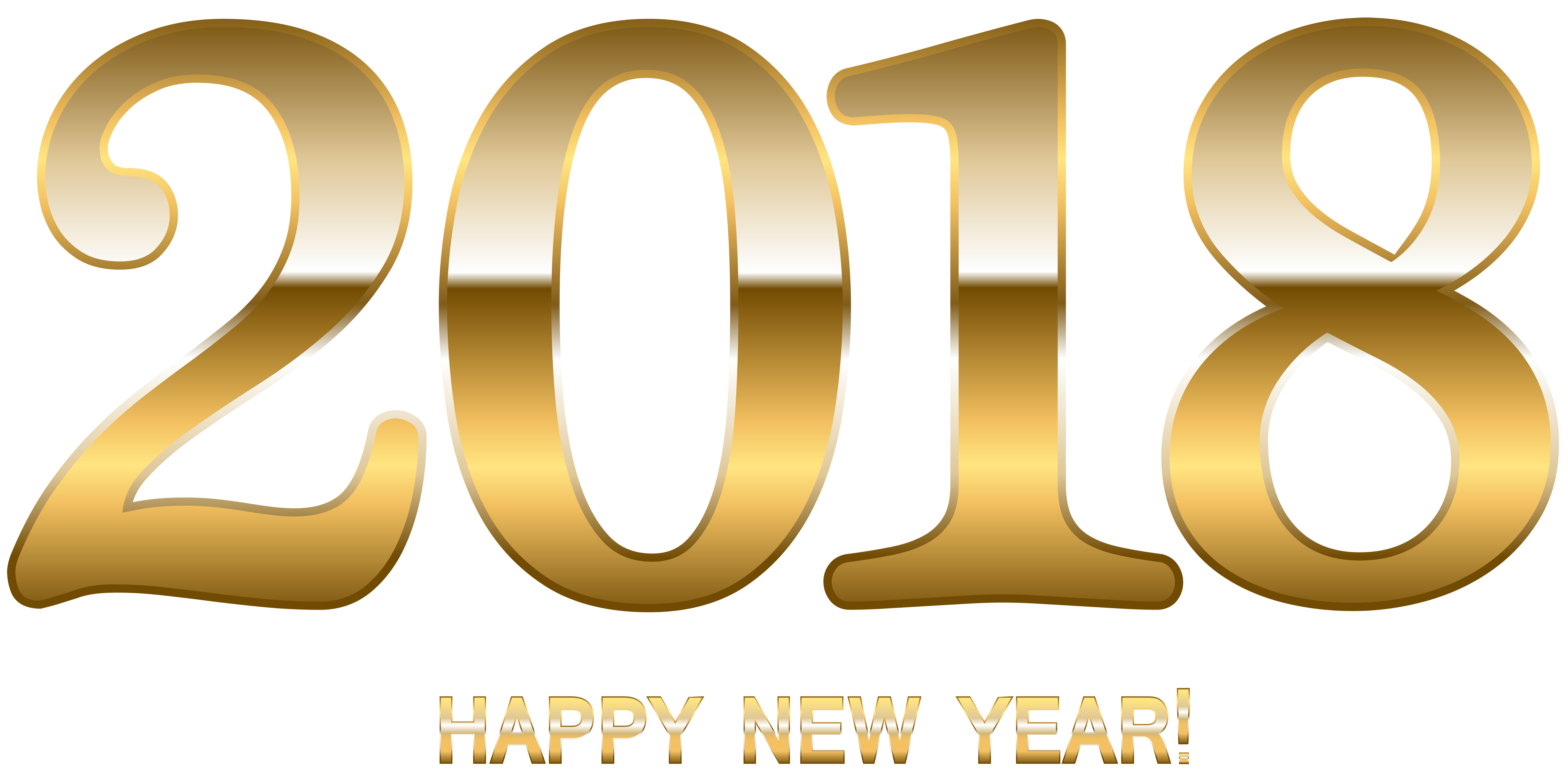 Happy new year 2018 png. Gold clip art