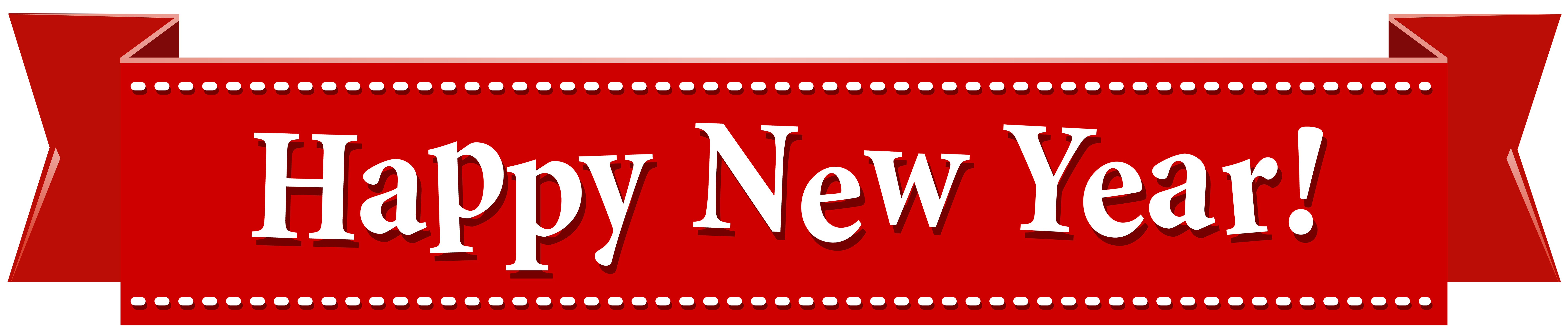 Happy new year banner png. Transparent clip art image