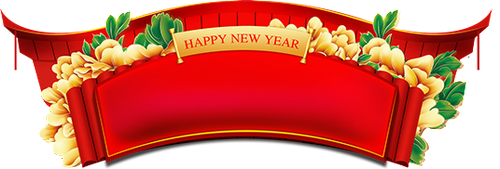 New year banner png. Happy images in collection