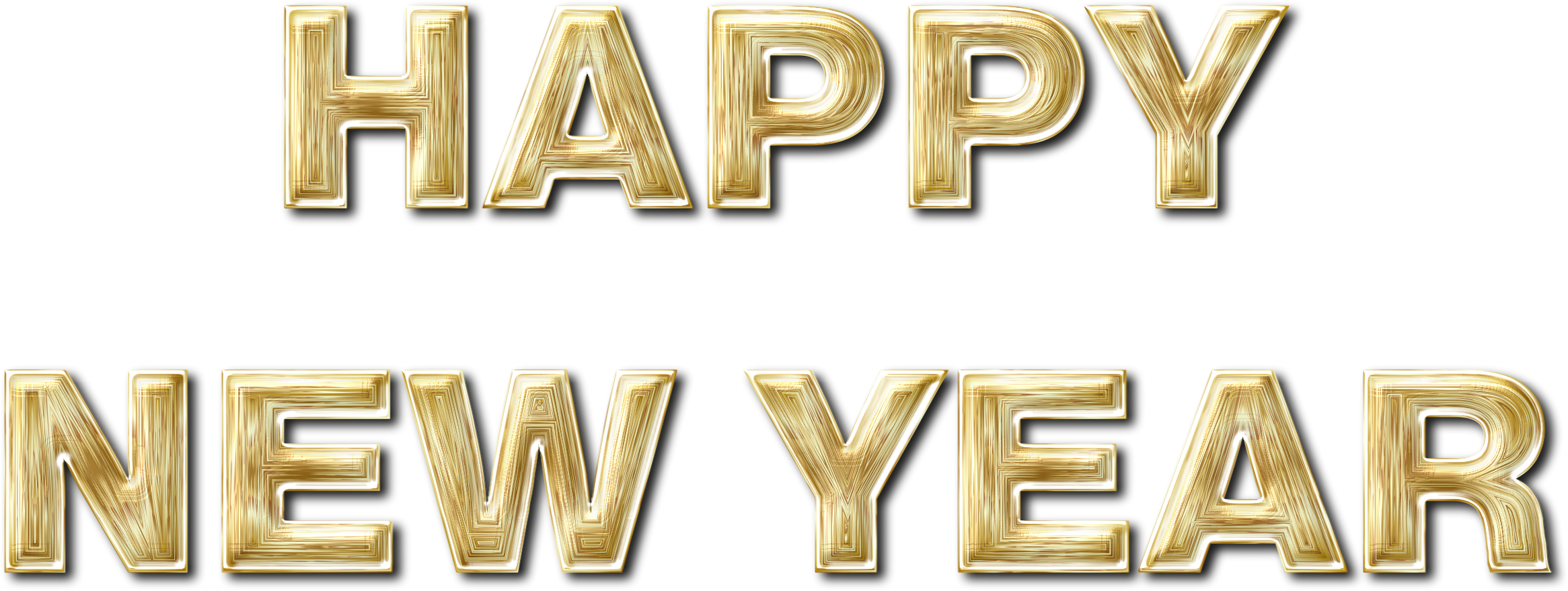 Clipart enhanced with drop. Happy new year gold png clip art freeuse