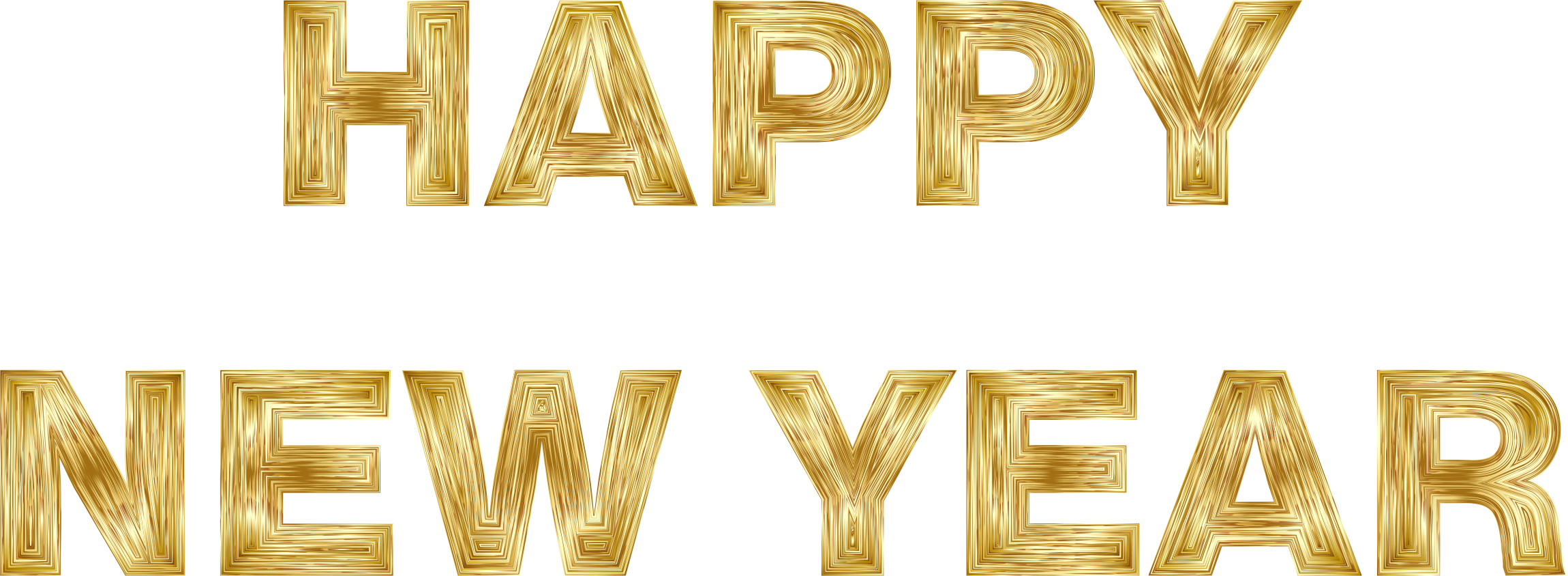 Clipart big image. Happy new year gold png clipart library download
