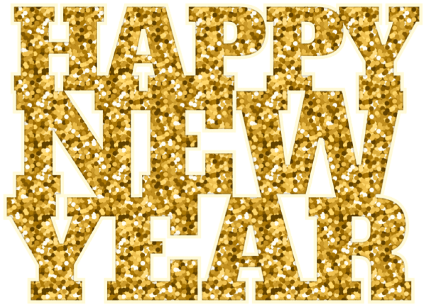 Free images toppng transparent. Happy new year gold png clip art black and white library