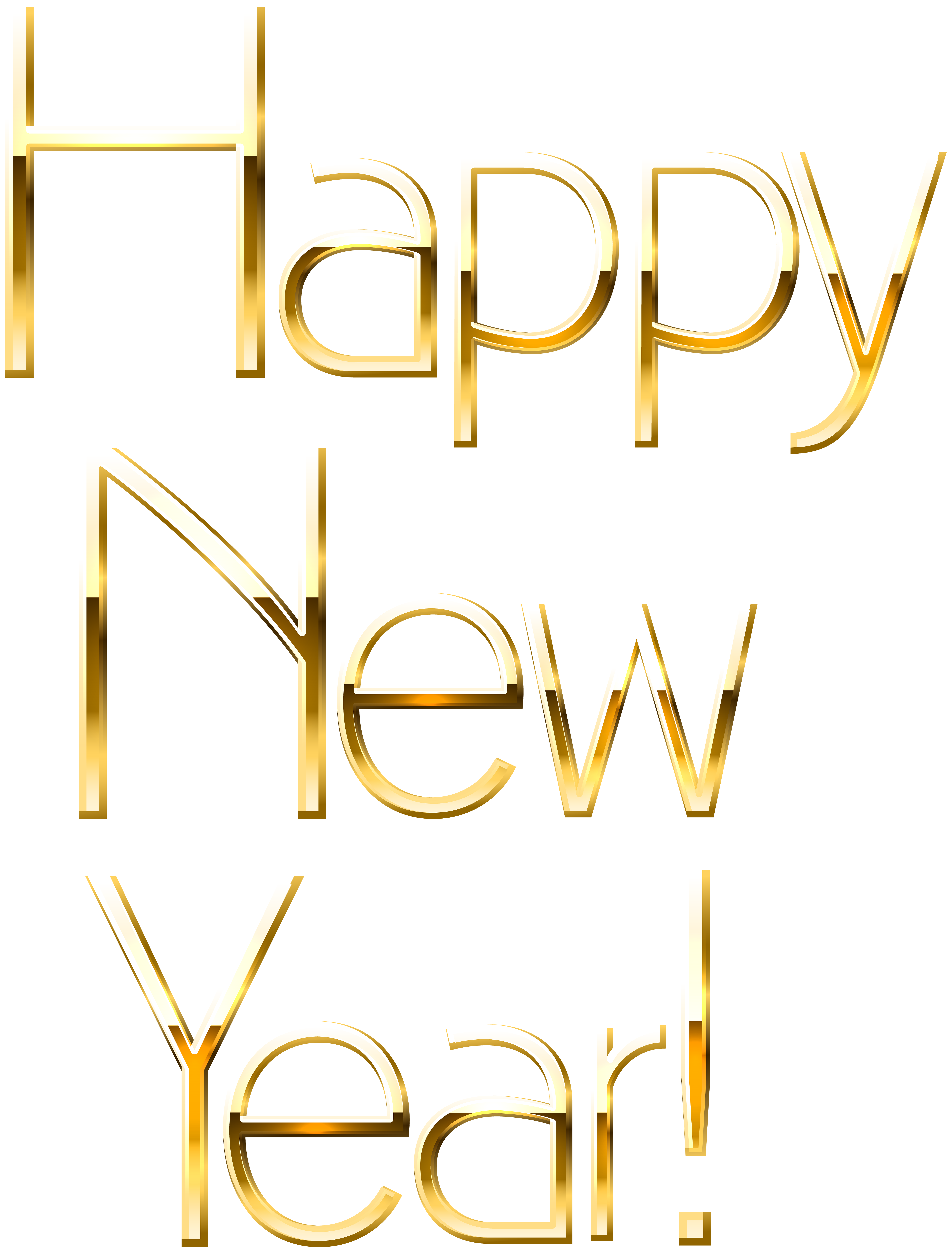 Clip art image gallery. Happy new year gold png clipart free download