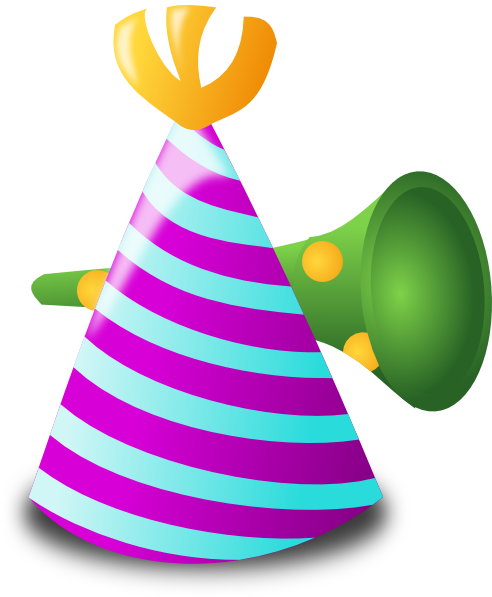 New years party hat png. Clipart eve transparent background