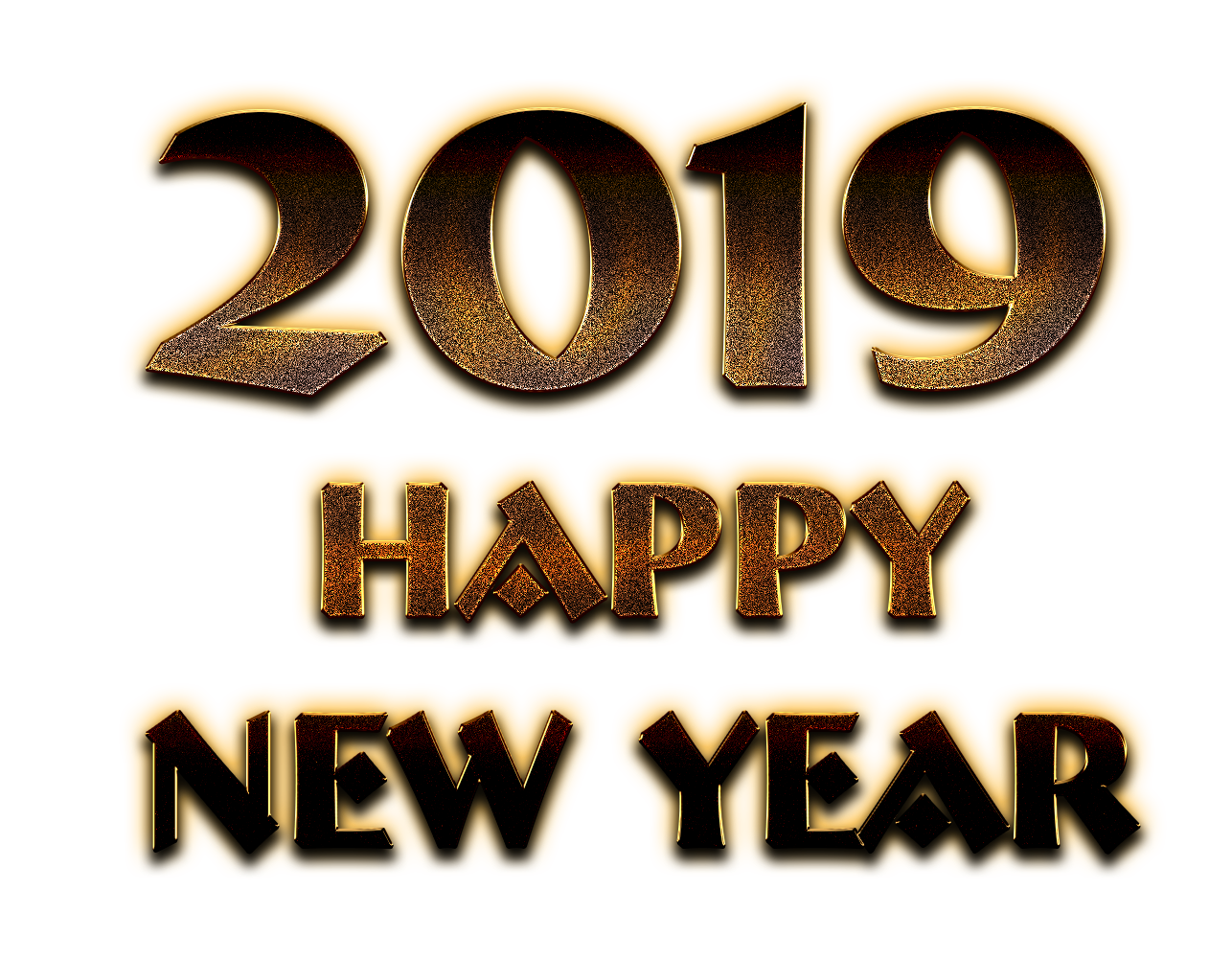 Happy New Year Text Png 91