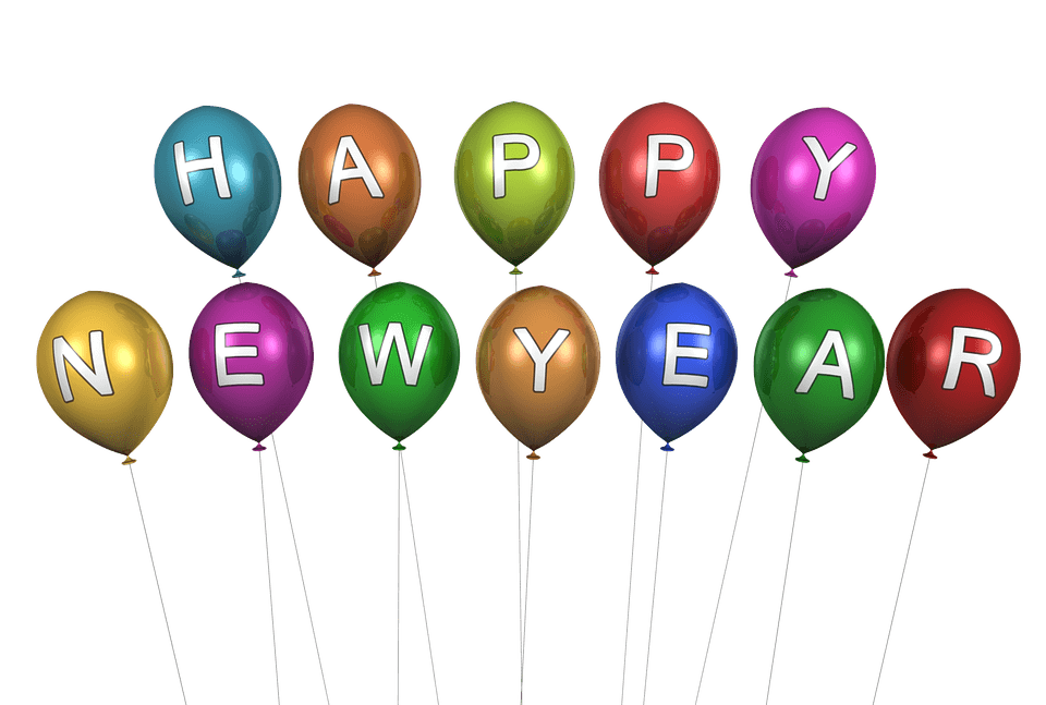 Happy new years png. Year balloons transparent stickpng