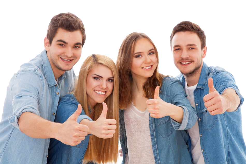 Happy people png. Thumb signal stock photography