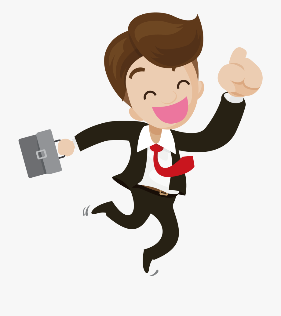 Happy person. Businessperson illustration business people