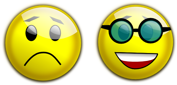 Happy sad face png. Smiley glasses clip art