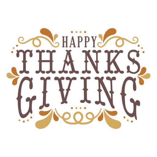 Happy thanksgiving banner png. Badge transparent svg vector