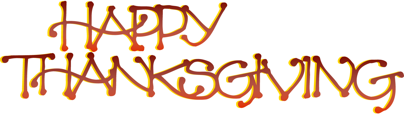 Happy thanksgiving clipart transparent background. Words graphic free rr