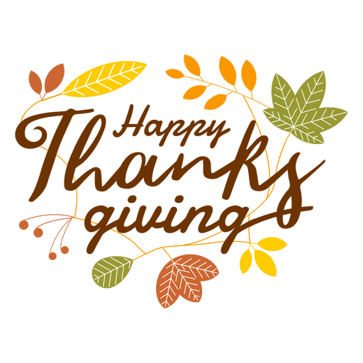 Happy thanksgiving logo png. Transparent svg vector