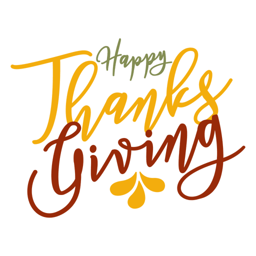 Happy thanksgiving png. Greetings badge transparent svg