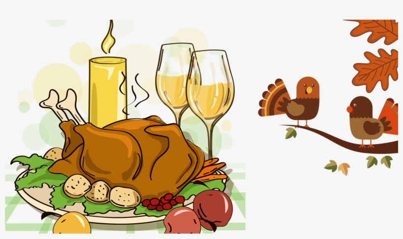 Happy thanksgiving png dinner. Turkey meat cartoon transparent