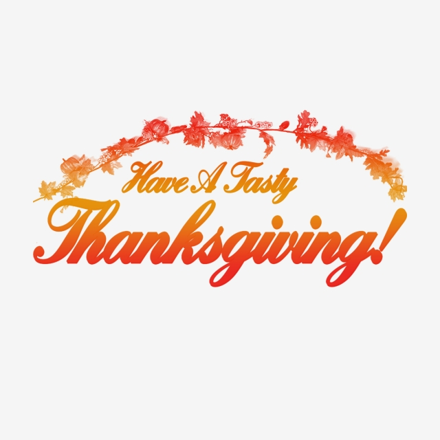 Happy thanksgiving png psd. Typography turkey day and
