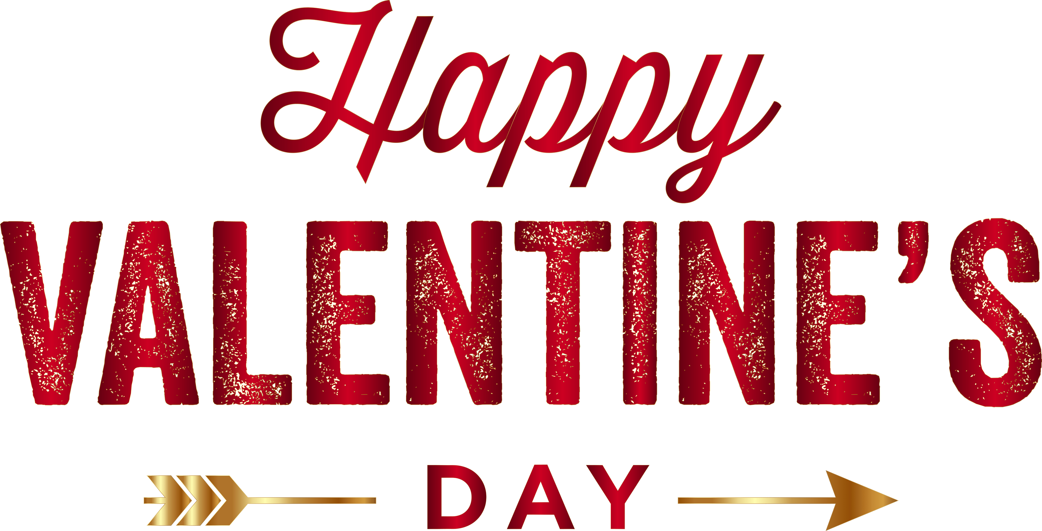 Happy valentines day png. Gold arrow transparent stickpng