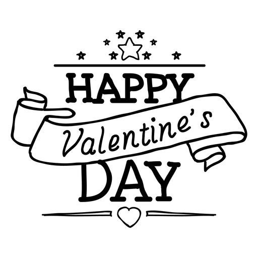 Happy day ribbon transparent. And svg valentines graphic black and white stock
