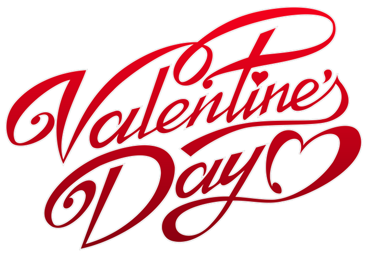 Valentine logo png. Valentines day text decor