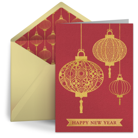 Happy vector chinese new year. Celebrate by sending a