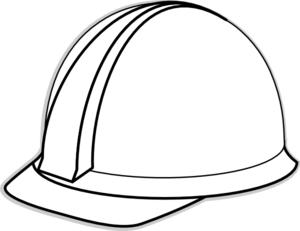 Hard clipart. Construction hat black and