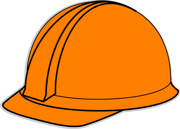 Hard clipart. Orange hat clip art