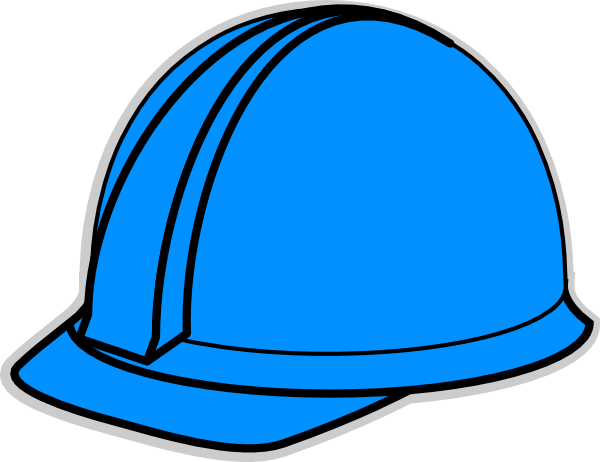Hardhat vector hard hat. Blue clip art at