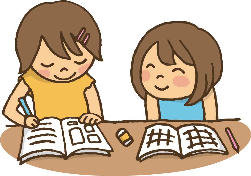 Hard clipart study book. Studying together a ready
