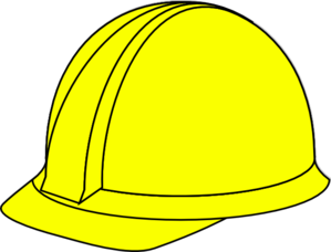 Yellow hard hat clip. Hardhat vector image library stock