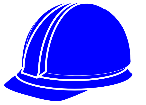 White hard hat clip. Hardhat vector art picture black and white