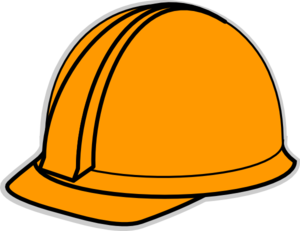 Hardhat vector clipart. Orange hard hat clip