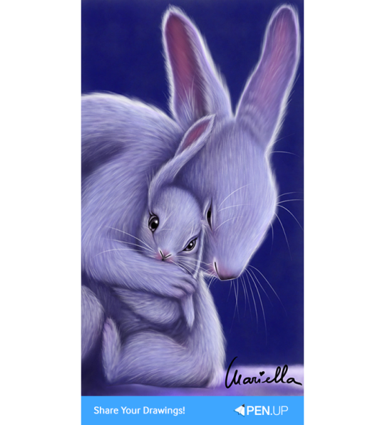 Rabbits drawing pen. Penup blog the winners