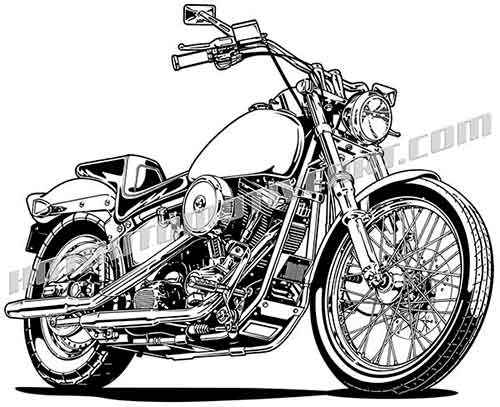 Harley davidson clipart black and white. Motorcycle clip art buy