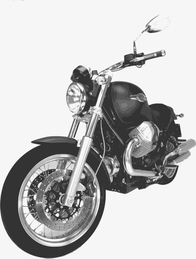 Harley davidson clipart black and white. Motorcycle png image