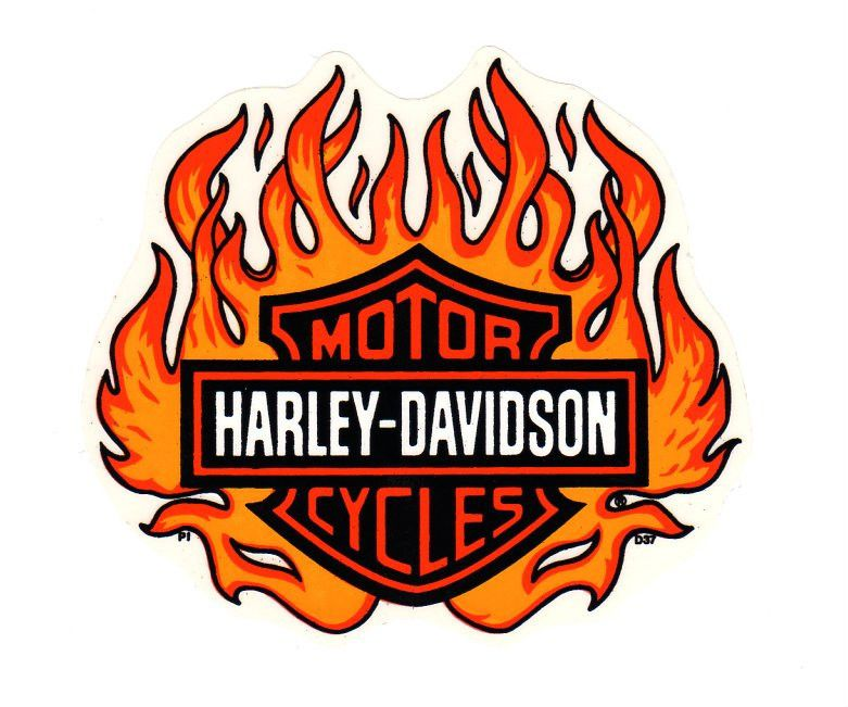 Harley davidson clipart flame. Authentic rare d