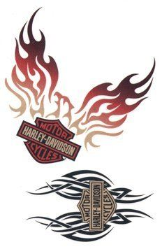 Harley davidson clipart flame. Best images on